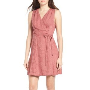 NWOT WAYF Floral Wrap Dress Small Dusty Pink